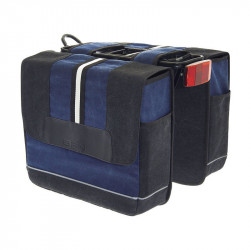 BRN BICYCLE DOUBLE PANNIERS PORTOFINO BLUE MADE OF CANVAS