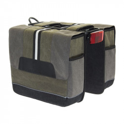 BRN BICYCLE DOUBLE PANNIERS PORTOFINO GREEN MADE OF CANVAS