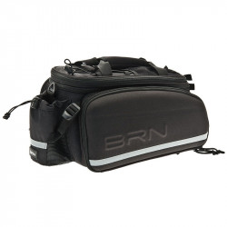 BRN CITY FABRIC TOP CASE EXTENSIBLE BLACK FOR REAR BICYCLE CARRIER