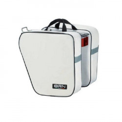 CLASSIC BICYCLE PANNIERS DOUBLE BAG MADE OF CORDURA WHITE