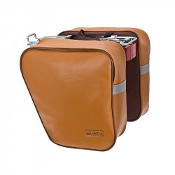 CLASSIC BICYCLE PANNIERS DOUBLE BAG MADE OF ECO-LEATHER HONEY