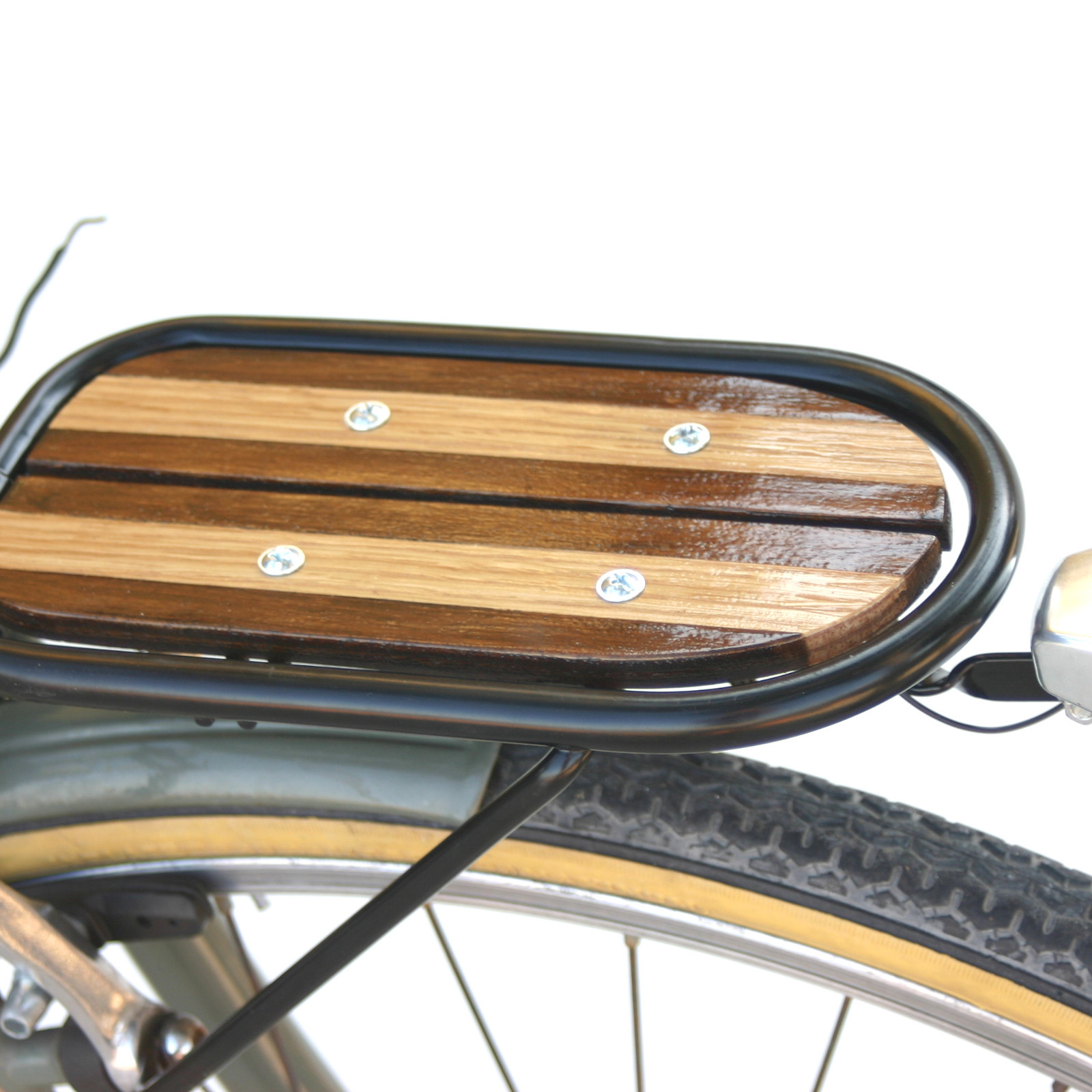 Bicycle Wooden Front Rack V Brakes Attached Handmade