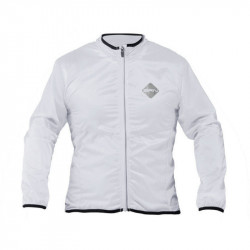 WINDPROOF LONG SLEEVE CYCLING JACKET WHITE COLOR SIZE M