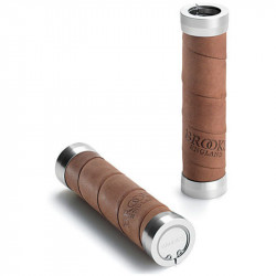 BROOKS SLENDER GRIPS 130/100 LEATHER BICYCLE GRIPS AGED