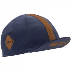 BRN VINTAGE CYCLING CAP BLUE/BROWN