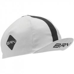 BRN VINTAGE CYCLING CAP WHITE/BLACK