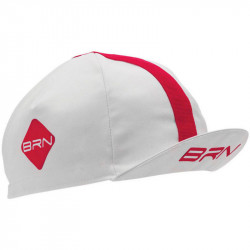 BRN VINTAGE CYCLING CAP WHITE/RED