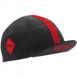 BRN VINTAGE CYCLING CAP GREY/RED