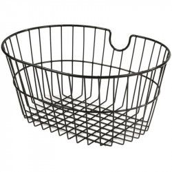 FRONT BICYCLE BASKET BLACK COLOR WITHOUT HOOKS MADE OF STEEL