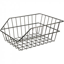 REAR BICYCLE BASKET BLACK COLOR MADE OF STEEL