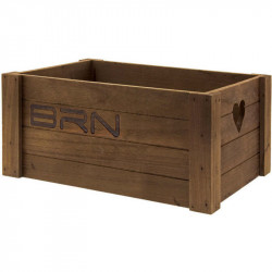 BRN LOVELY - WOODEN BICYCLE BASKET - BROWN COLOR – SMALL SIZE