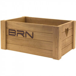 BRN LOVELY - WOODEN BICYCLE BASKET - NATURAL COLOR – BIG SIZE
