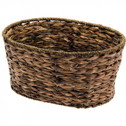 MONDINA NATURAL HYACINTH MESHED BASKET OVAL SHAPED