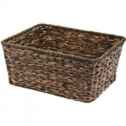 MONDINA NATURAL HYACINTH MESHED BASKET RECTANGULAR SHAPED