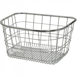 METALLIC 100% INOX FRONT BICYCLE BASKET