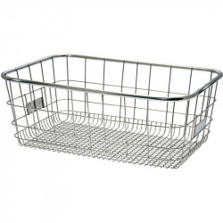 METALLIC 100% INOX FRONT or REAR BICYCLE BASKET