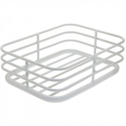 CAGE ALUMINIUM FRONT BICYCLE BASKET COLOR WHITE