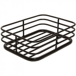 CAGE ALUMINIUM FRONT BICYCLE BASKET COLOR BLACK