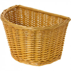 GIUSY WICKER - FRONT BICYCLE BASKET – HONEY BROWN