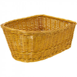 SALLY WICKER - REAR BICYCLE BASKET – HONEY BROWN