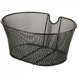 ECO FRONT BICYCLE BASKET BLACK WITHOUT HOOKS