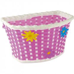 FLOWER - CHILDREN'S BICYCLE BASKET – PINK – PLASTIC