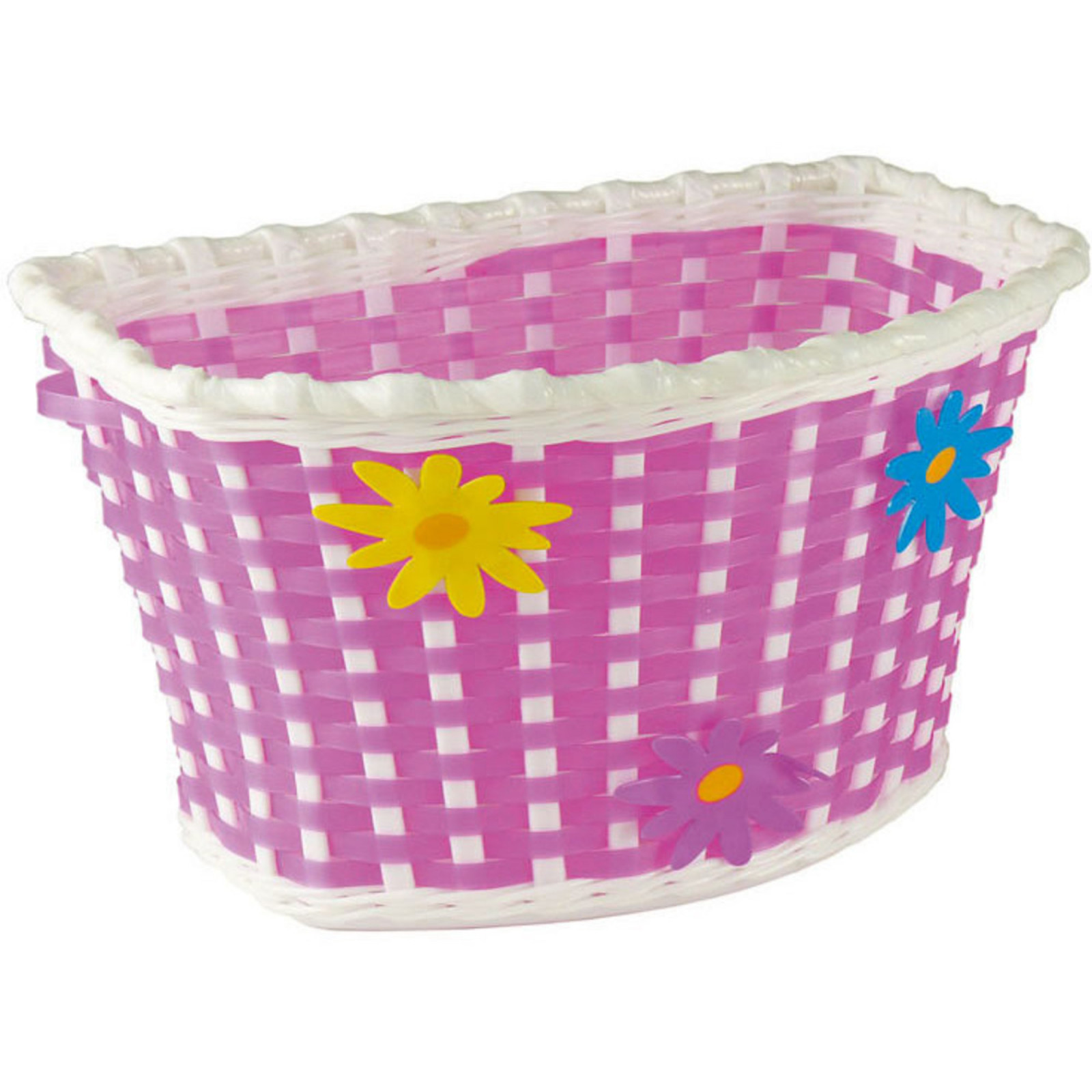FLOWER - CHILDREN'S BICYCLE BASKET – PINK – PLASTIC