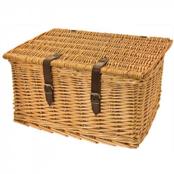 MAXI WICKER BOX NATURAL WITH COVER