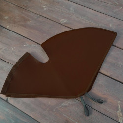 Bicycle Skirt - Dress - Coat Guard - Protector Fabric Brown Leatherette